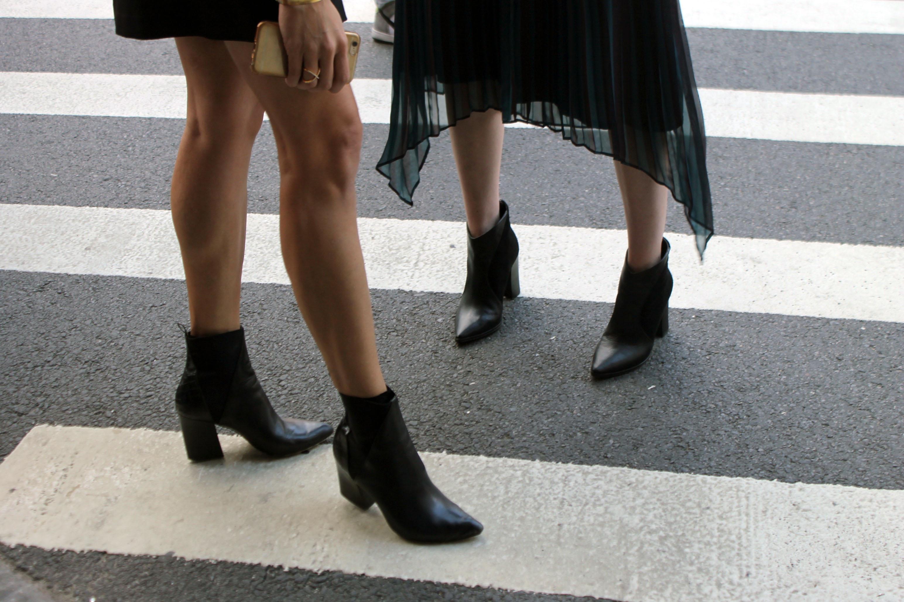 Street Style: Booties, Metallics & Black White