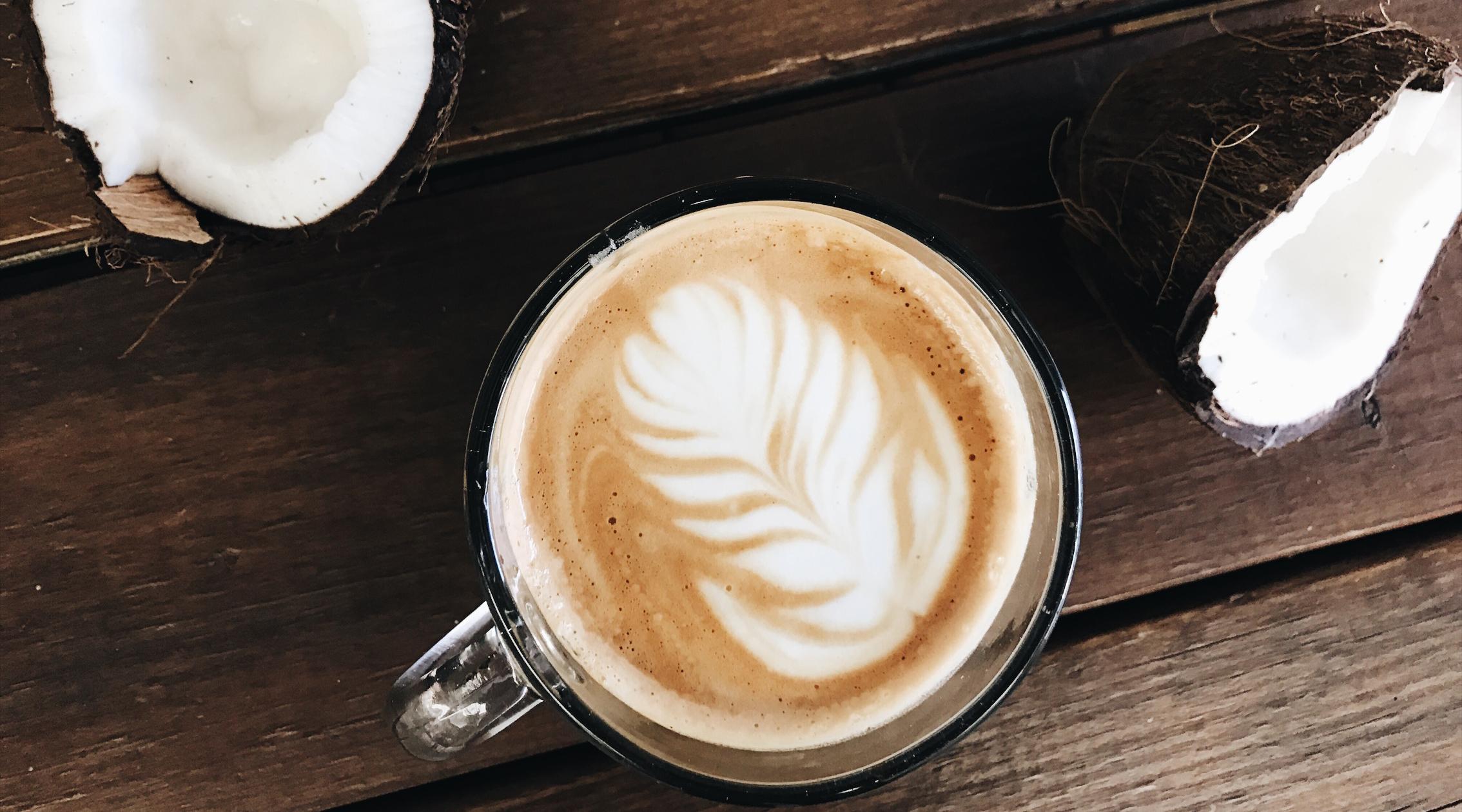 ¿Café con leche de coco? ¿Dónde?