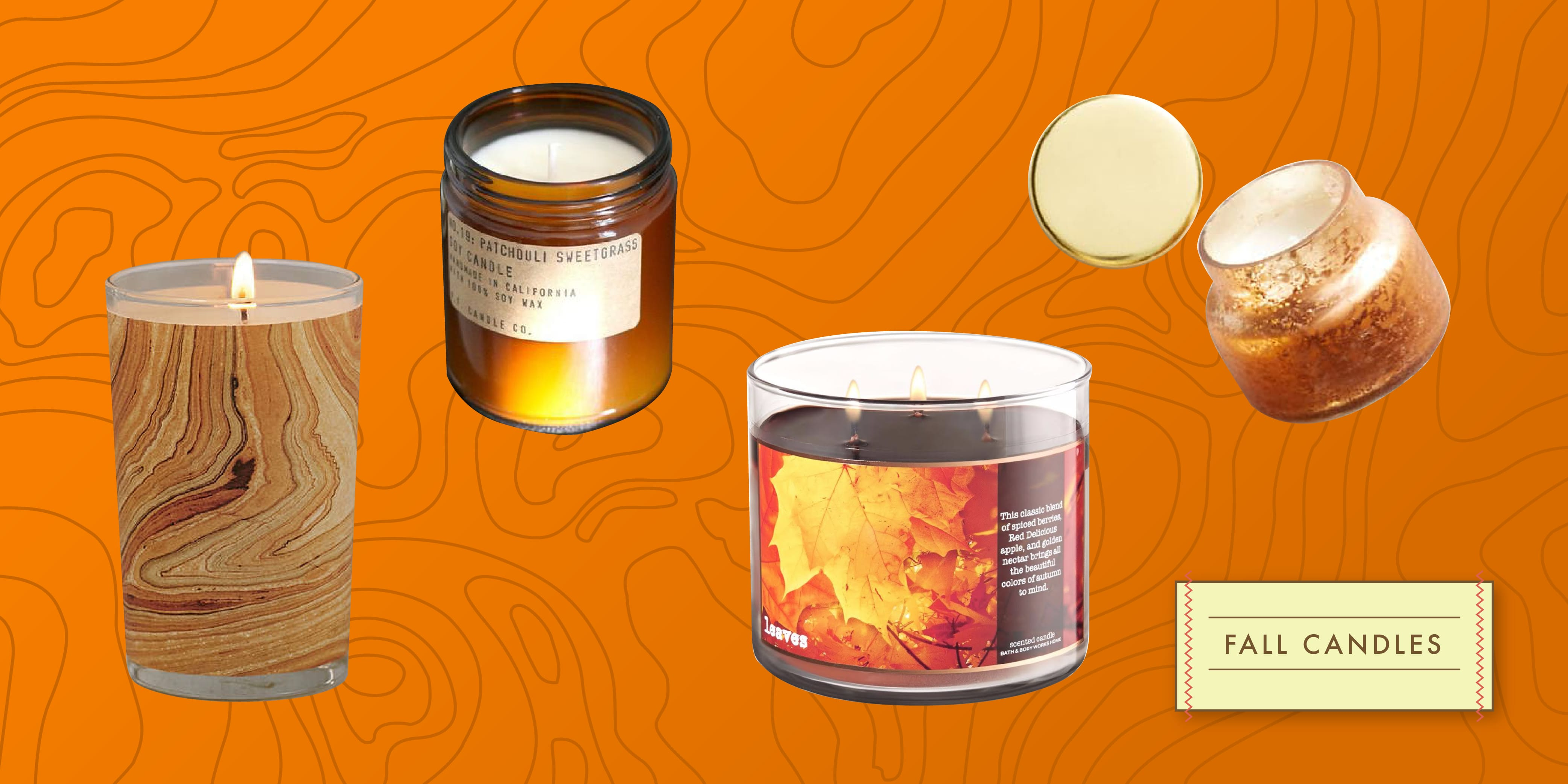 4 Velas con aroma otoño por menos de $20