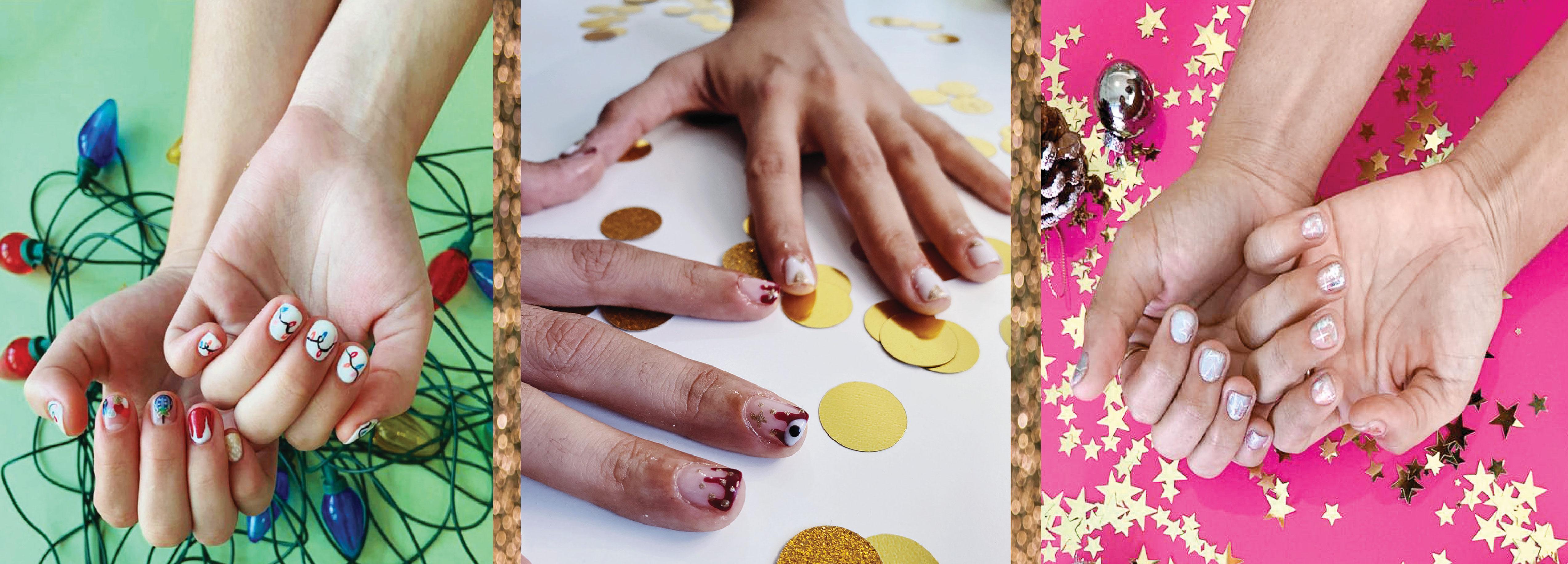 3 Holiday inspired Nail Looks para que tengas tus uñas set estas Navidades