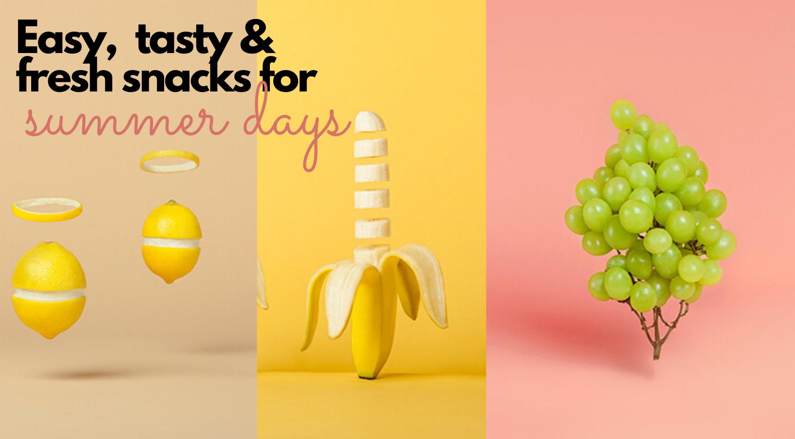 3 recetas de snacks que son tan fáciles como refrescantes